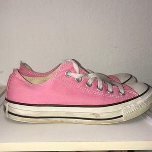 Pink Converse low top